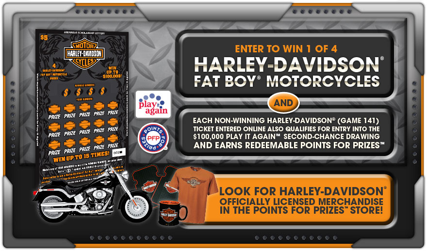 Enter to win 1 of 4 Harley Davidson Fat Boy Motorcycles